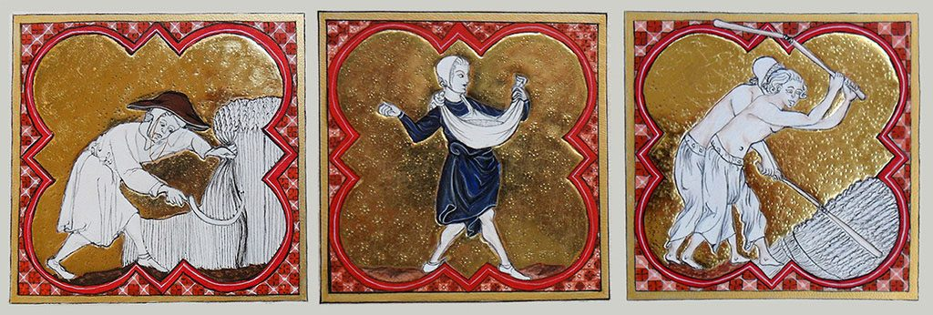 Enluminures du Martyrologe Obituaire de Saint Germain des prés
