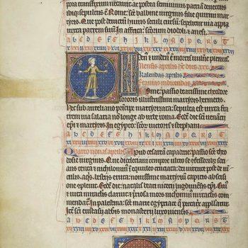 Martyrologe de Saint Germain des Prés. Folio 70