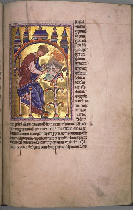 Folio 81r du Bestaire d'Aberdeen.