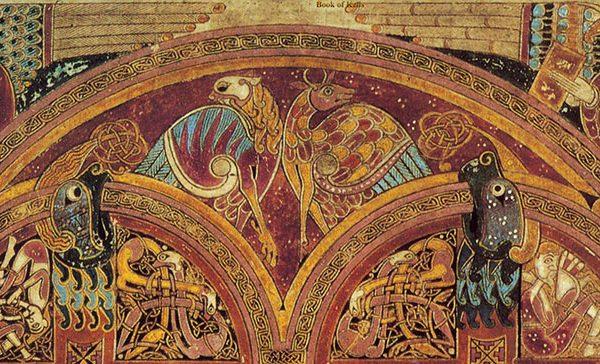 Livre de Kells - Table du canon eusébien (Folio n°5)