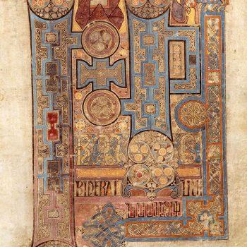 Page d'ouverture de l'évangile de Saint-Jean (Folio 292r du livre de Kells)
