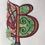 Initiales celtiques A, B, C