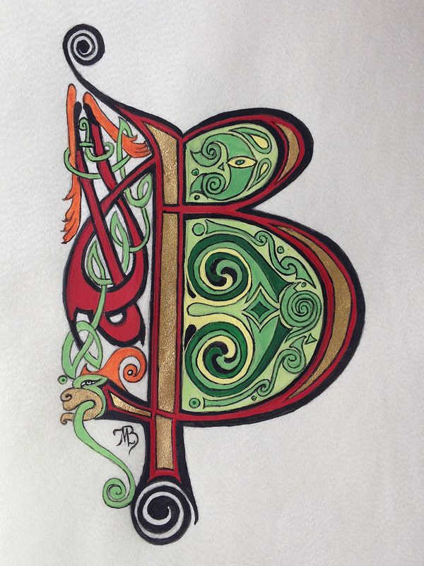 Initiales celtiques A, B, C…