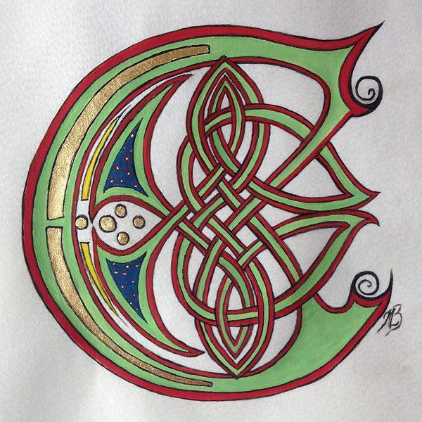 Initiale C celtique