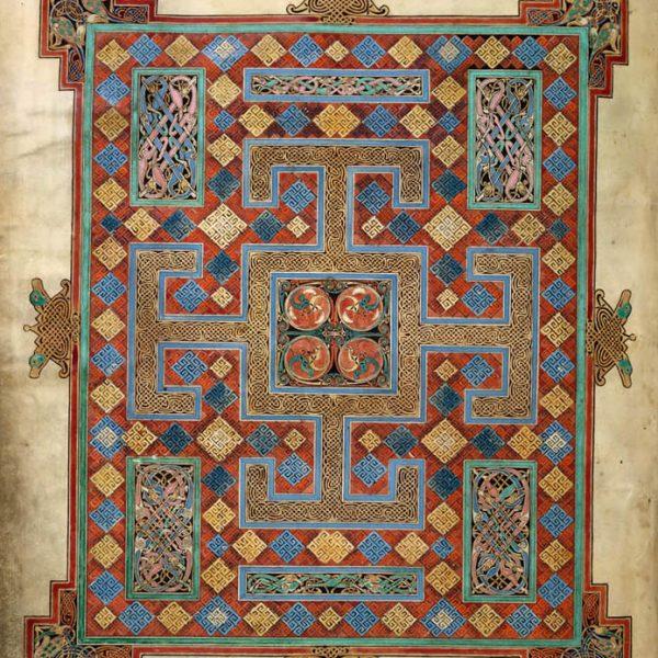 Lindisfarne Folio 138v - Saint Luc