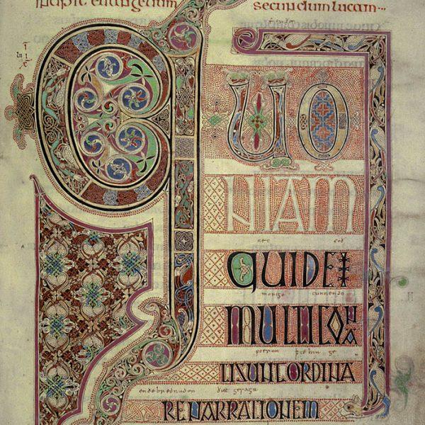 Lindisfarne Folio 139r - Saint Luc