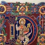 Initiale D – Christ marchant sur les bêtes