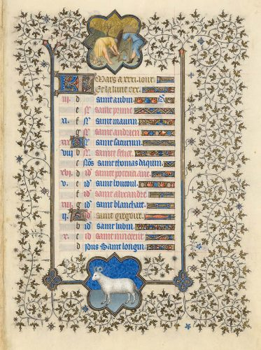 Belles heures du Duc de Berry - Folio 4v