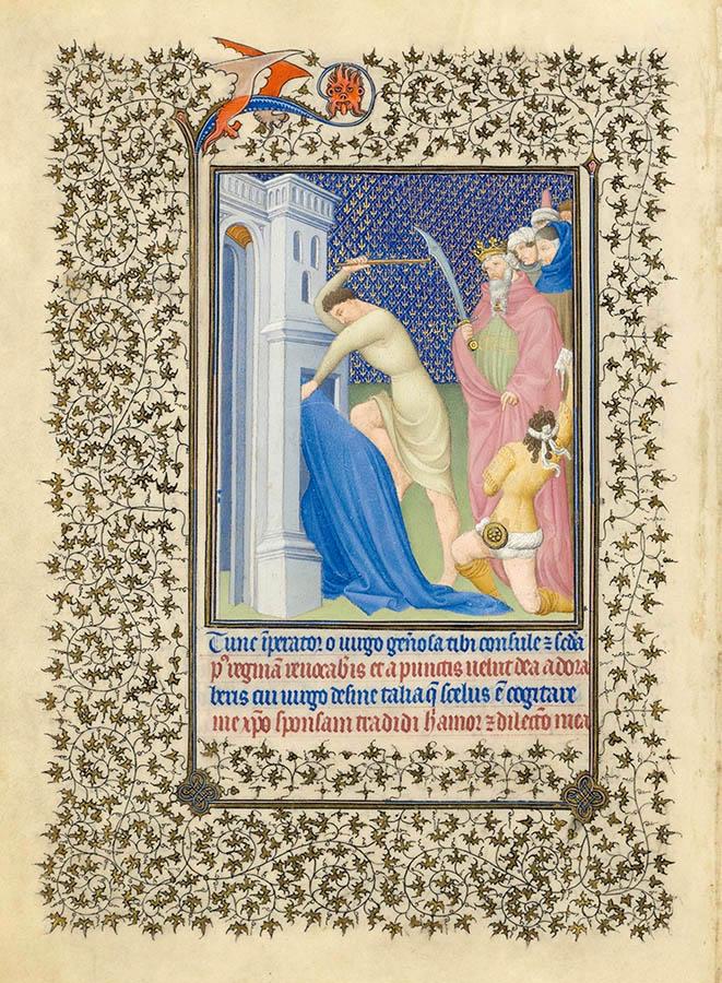 Belles heures du Duc de Berry - Sainte Catherine - Folio 16v