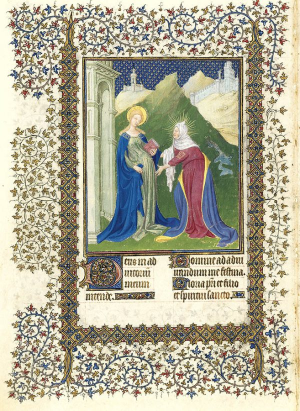Belles heures du Duc de Berry - La Visitation.