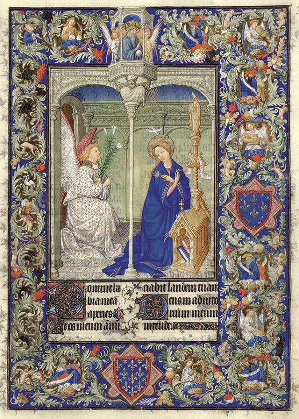 Belles heures du Duc de Berry - L'Annonciation.