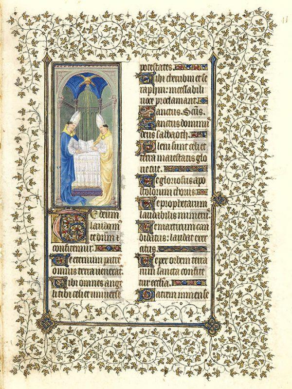 Belles heures du Duc de Berry - Saint Ambroise et Saint Augustin.