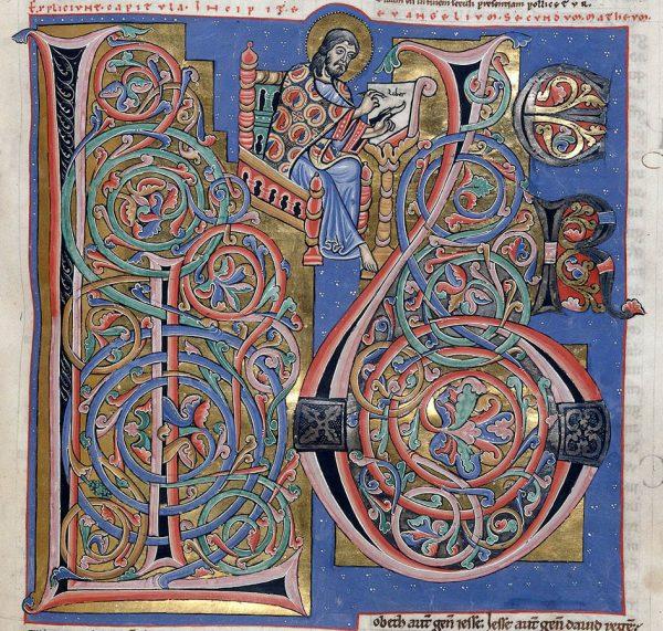 Bible d'Arnstein - Folio 155r (zoom) - Saint Matthieu