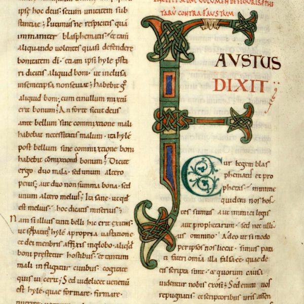 Lettrine F - Faustus dixit