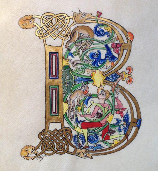 Lettrine B – Traité des psaumes